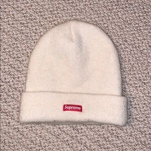 Supreme white/cream colored hat